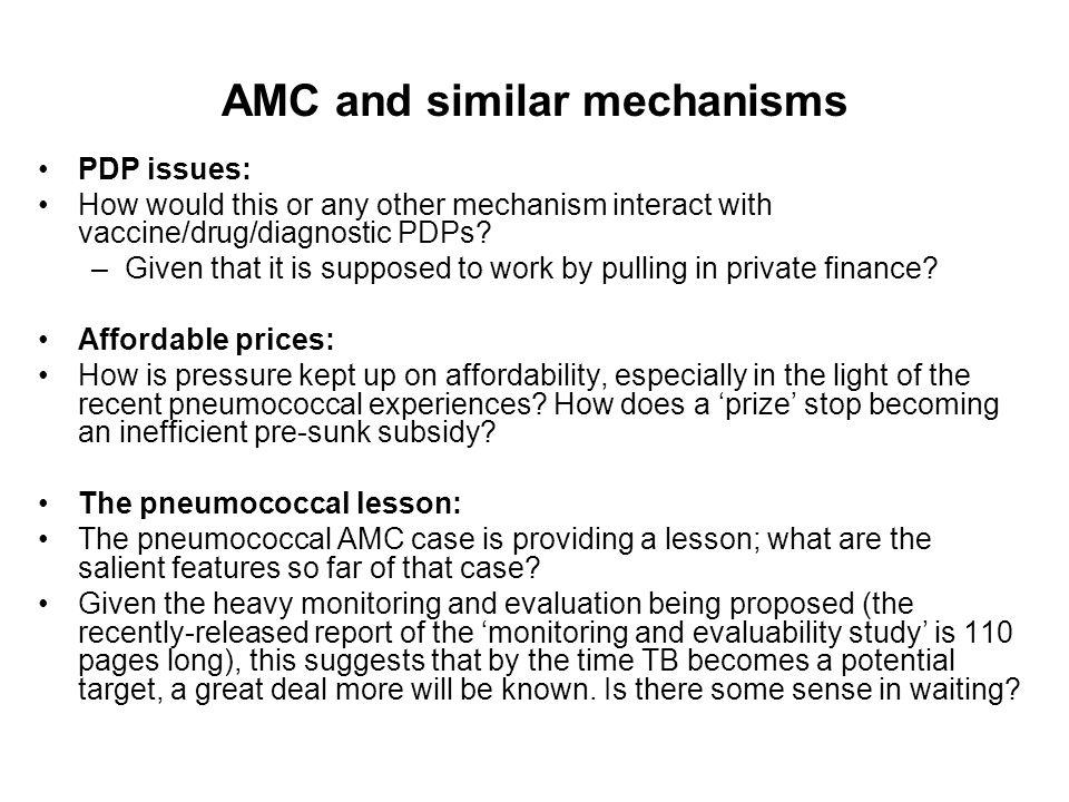 AMC and similar mechanisms