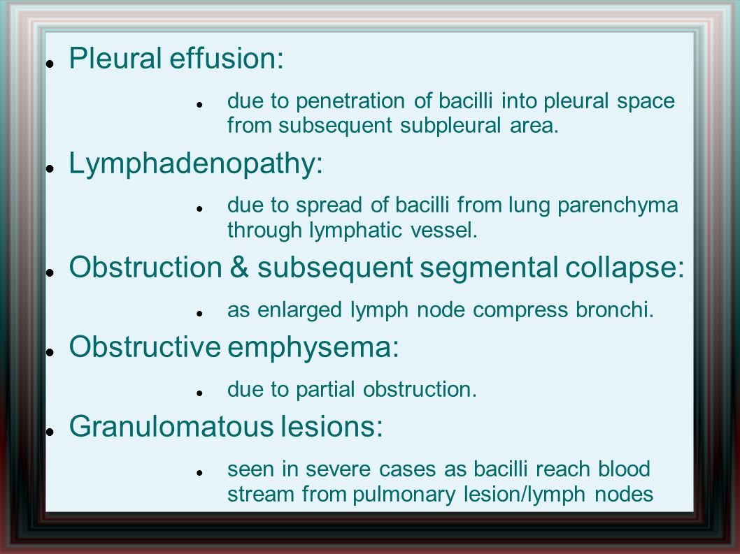 Obstruction & subsequent segmental collapse: Obstructive emphysema: