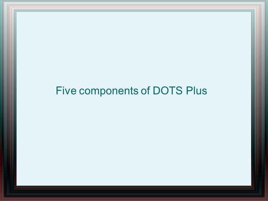 Five components of DOTS Plus