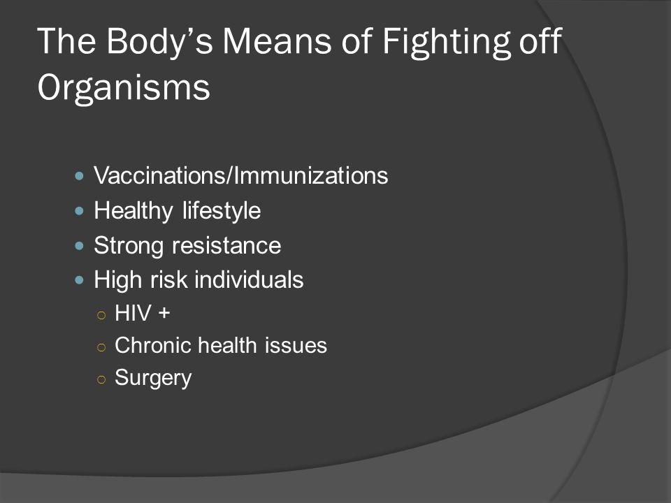 The Body's Means of Fighting off Organisms