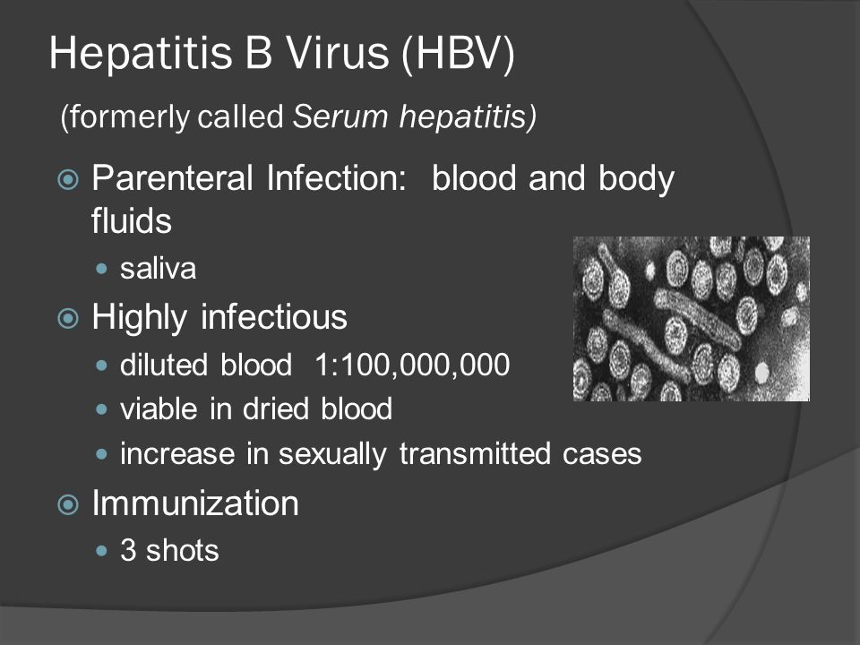 Hepatitis B Virus (HBV) (formerly called Serum hepatitis)
