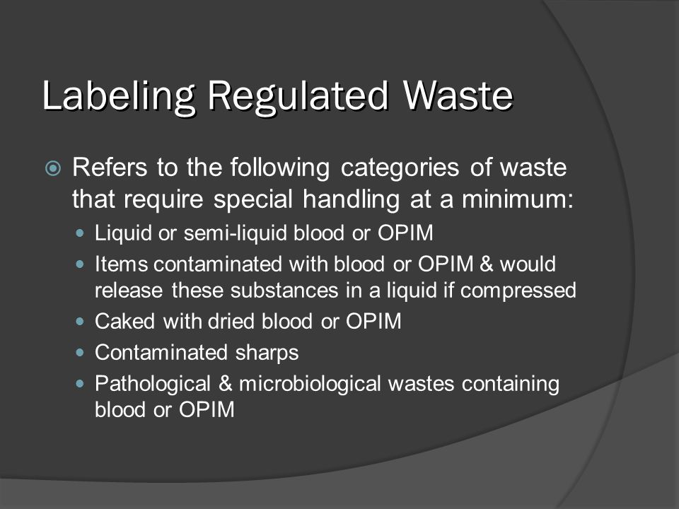 Labeling Regulated Waste