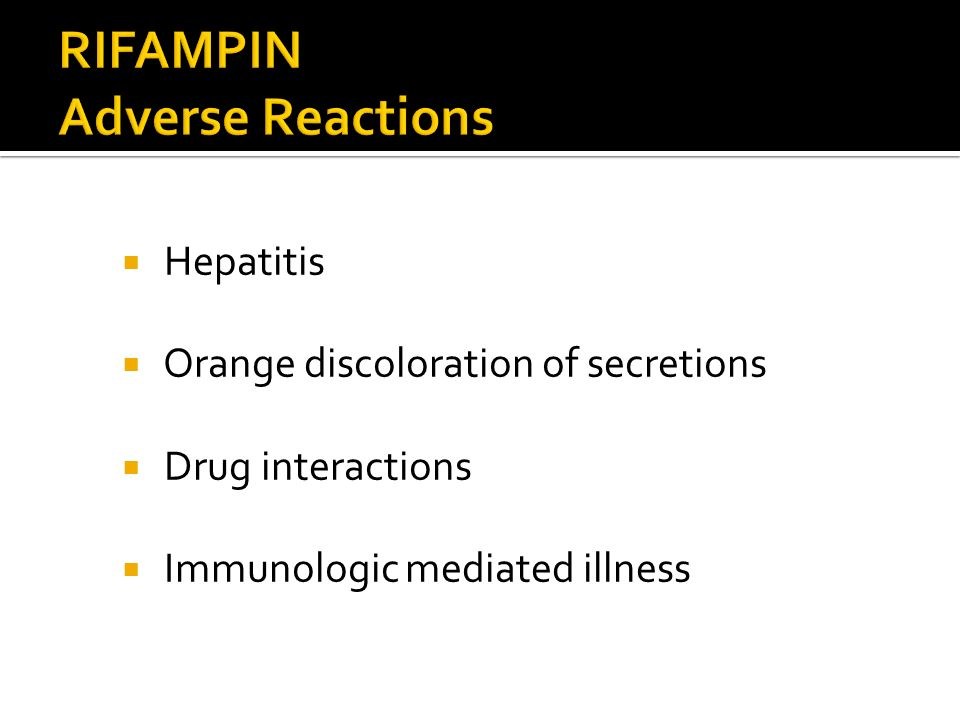 RIFAMPIN Adverse Reactions