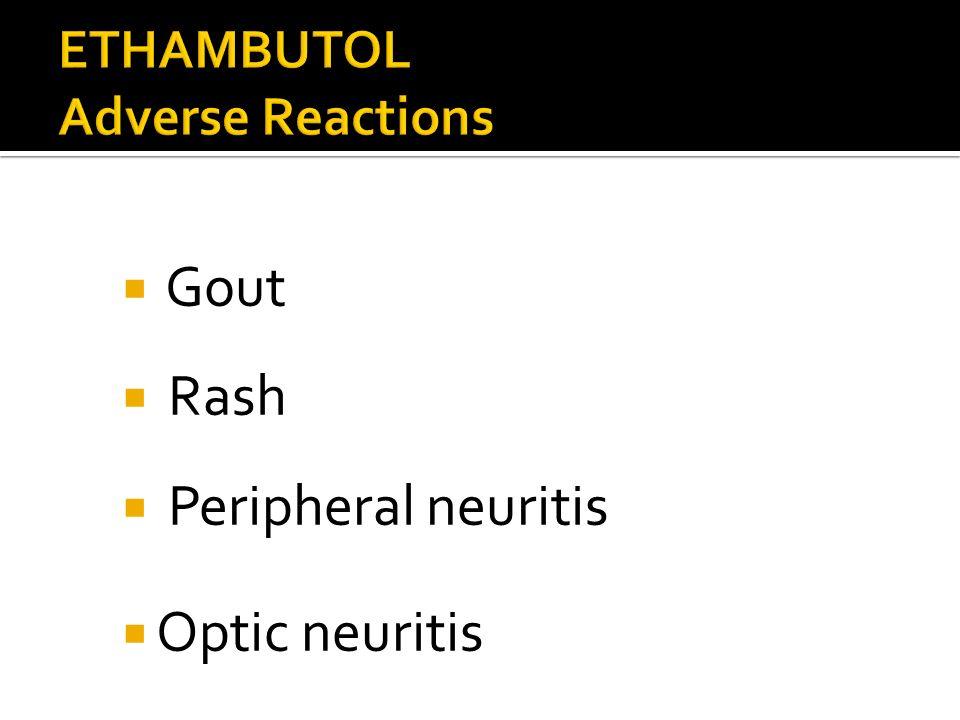 ETHAMBUTOL Adverse Reactions