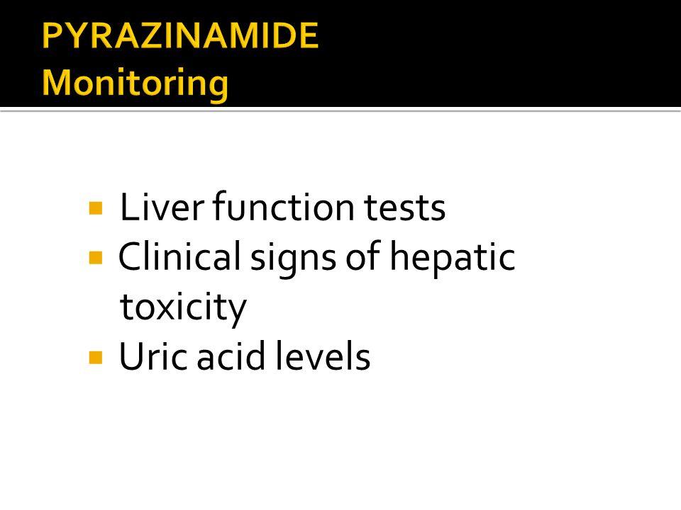 PYRAZINAMIDE Monitoring