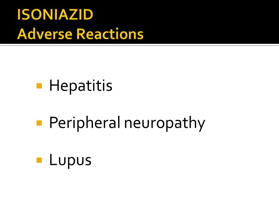 ISONIAZID Adverse Reactions