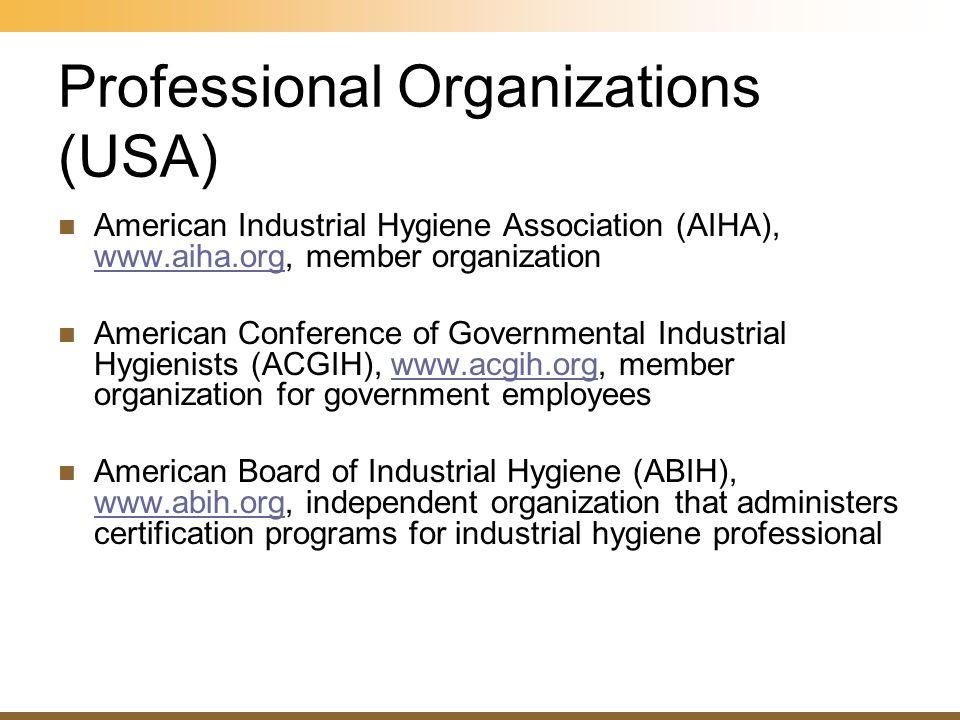 Professional Organizations (USA)
