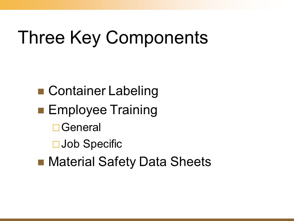 Three Key Components Container Labeling Employee Training