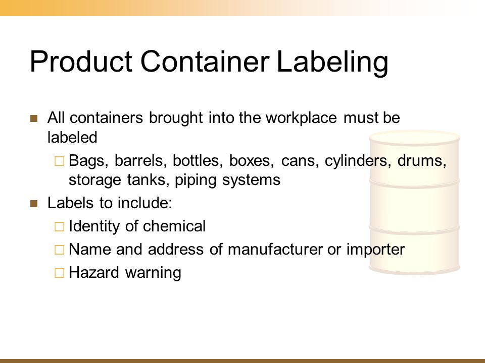 Product Container Labeling