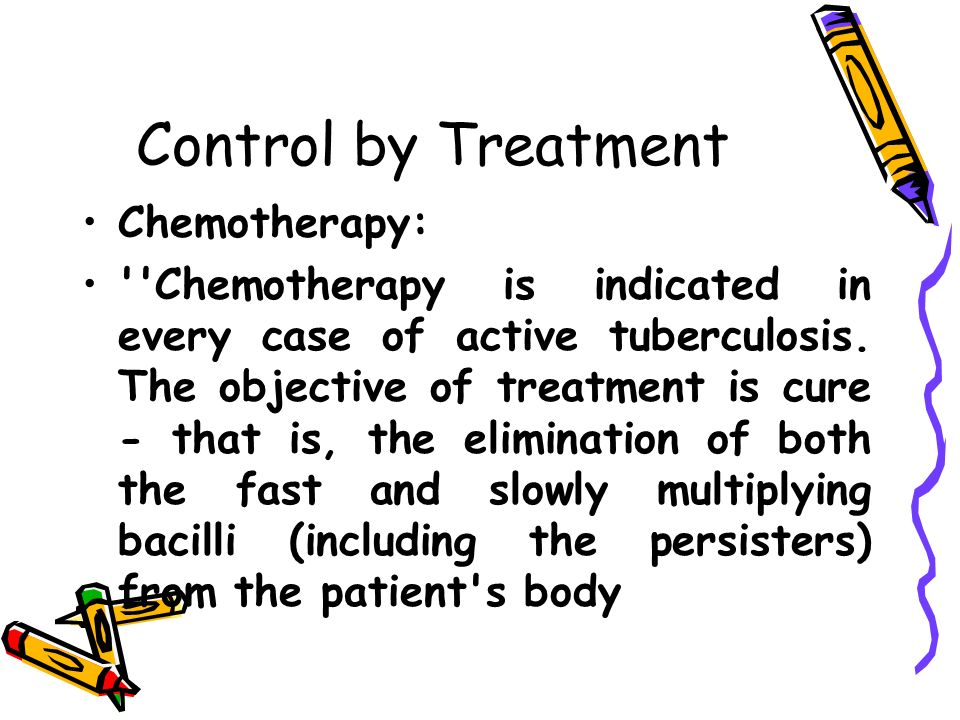 Control by Treatment Chemotherapy: