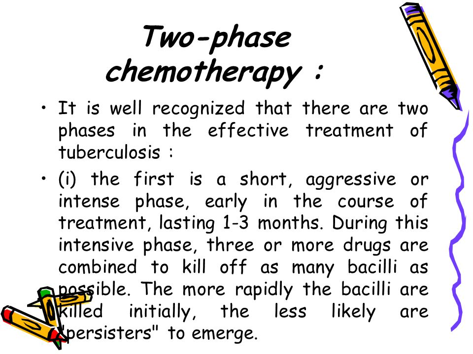 Two-phase chemotherapy :