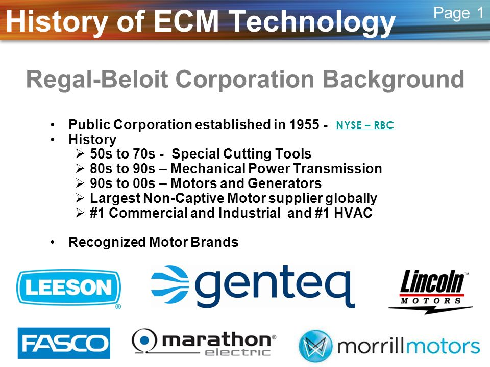 Regal-Beloit Corporation Background