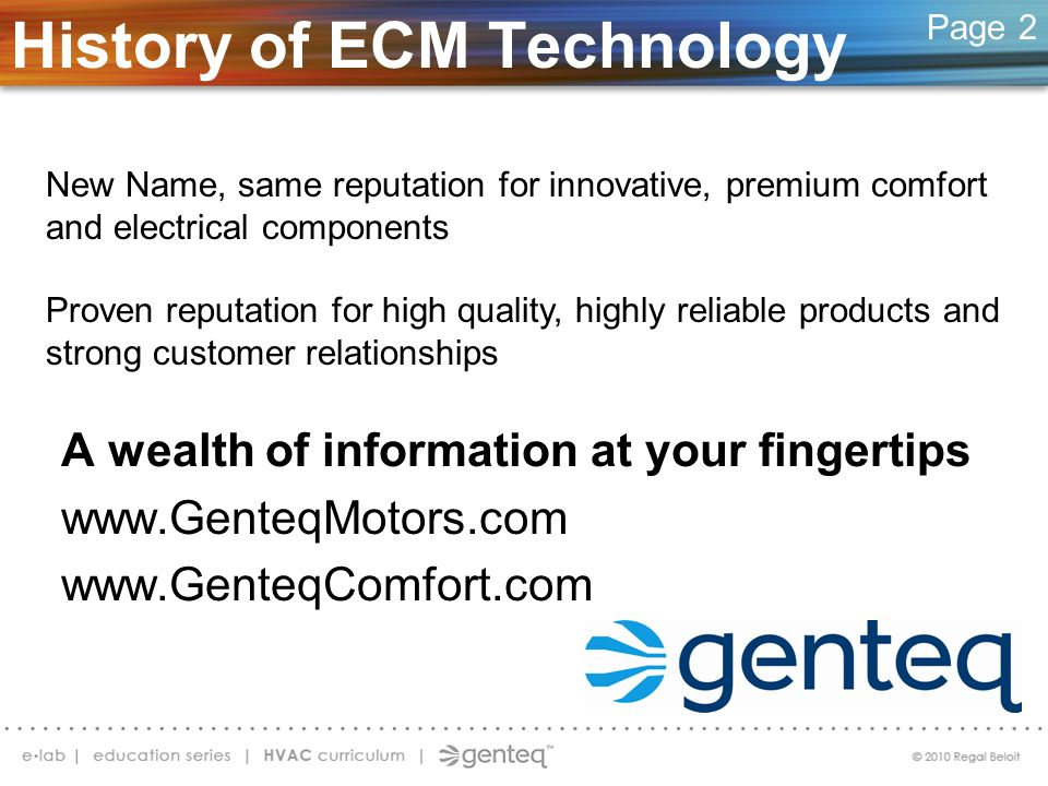 History of ECM Technology