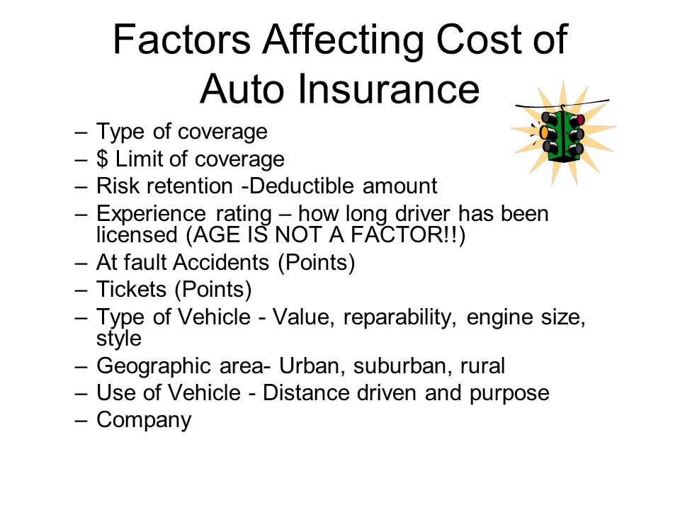Factors Affecting Cost of Auto Insurance