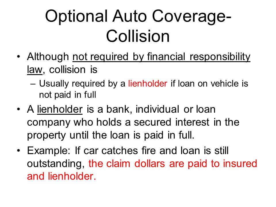 Optional Auto Coverage-Collision