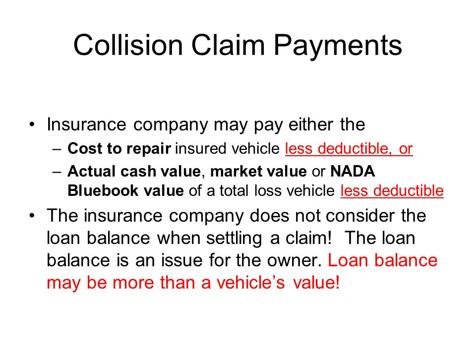 Collision Claim Payments