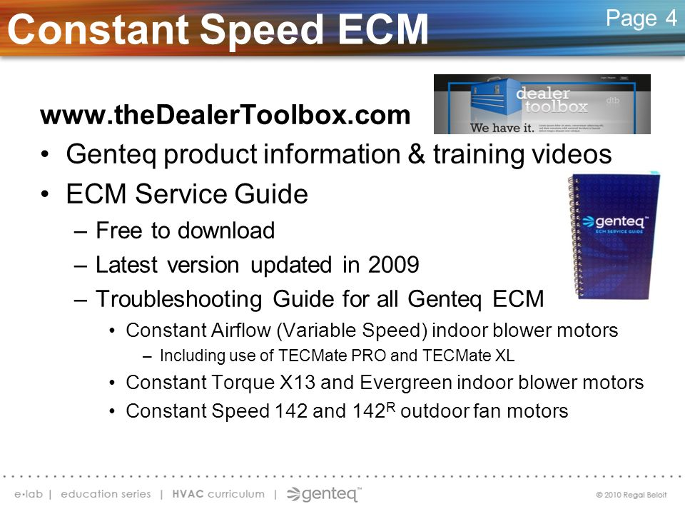 Constant Speed ECM
