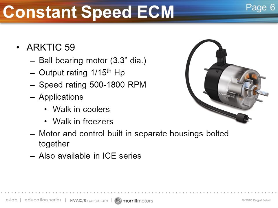 Constant Speed ECM ARKTIC 59 Page 6 Ball bearing motor (3.3 dia.)