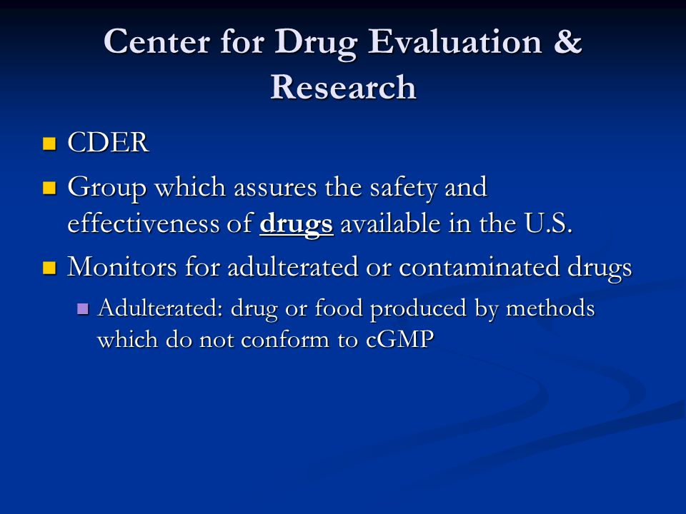 Center for Drug Evaluation & Research
