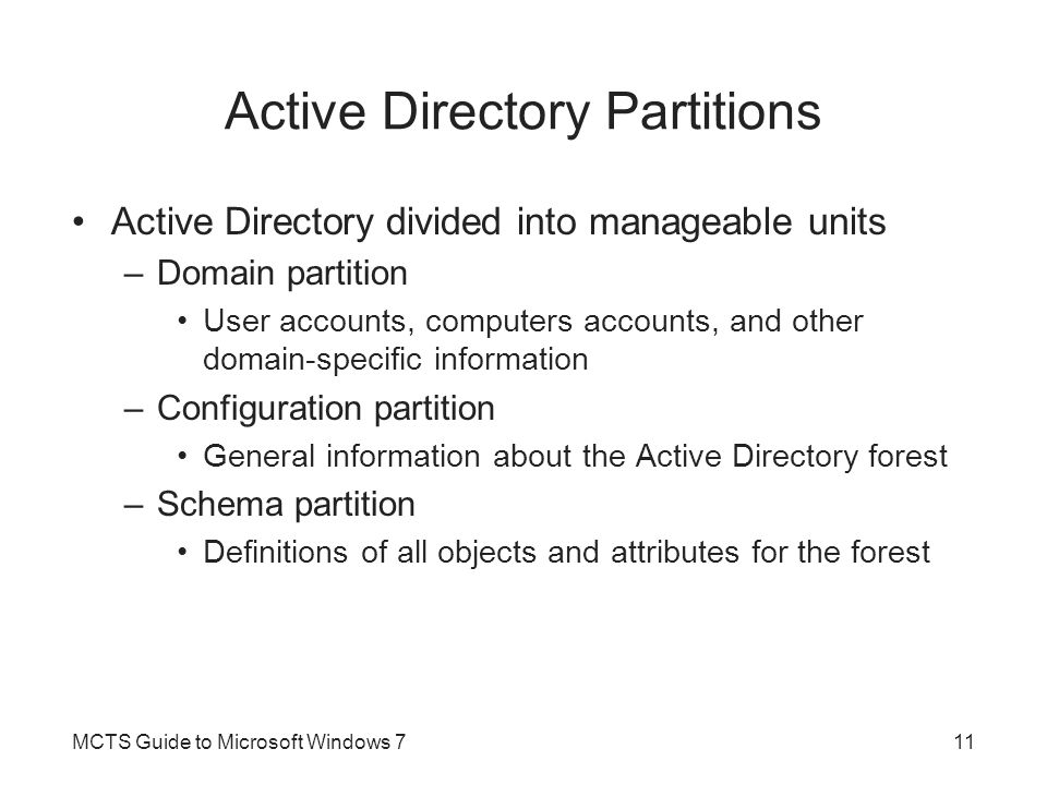 Active Directory Partitions