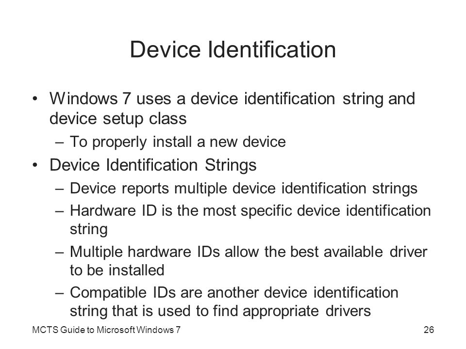 Device Identification