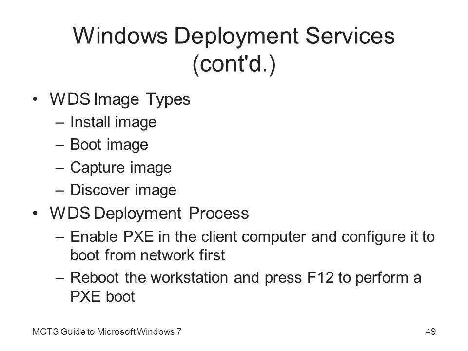 Windows Deployment Services (cont d.)