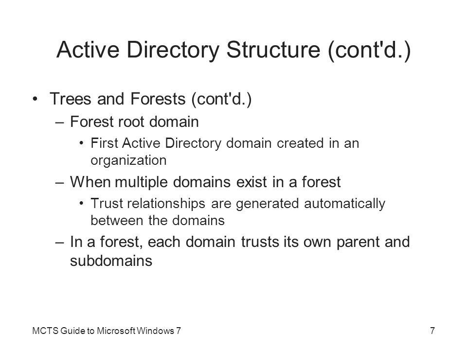 Active Directory Structure (cont d.)