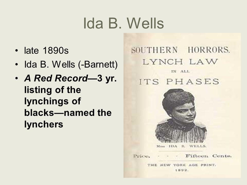 Ida B. Wells late 1890s Ida B. Wells (-Barnett)