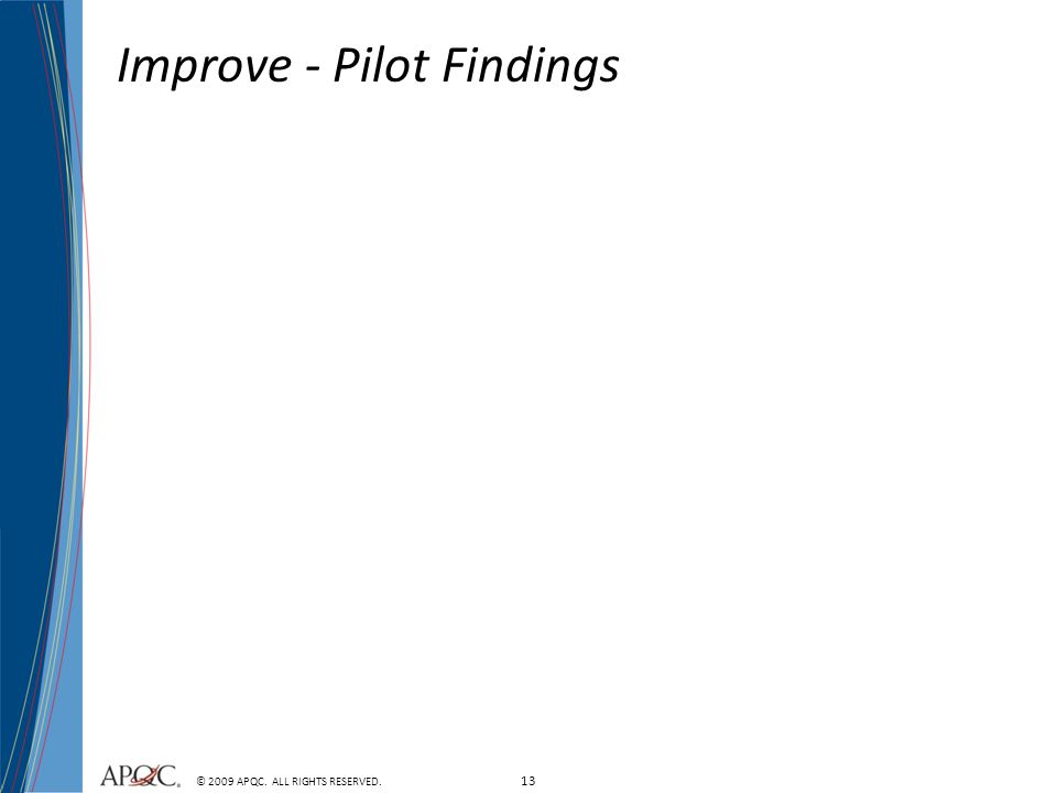 Improve - Pilot Findings