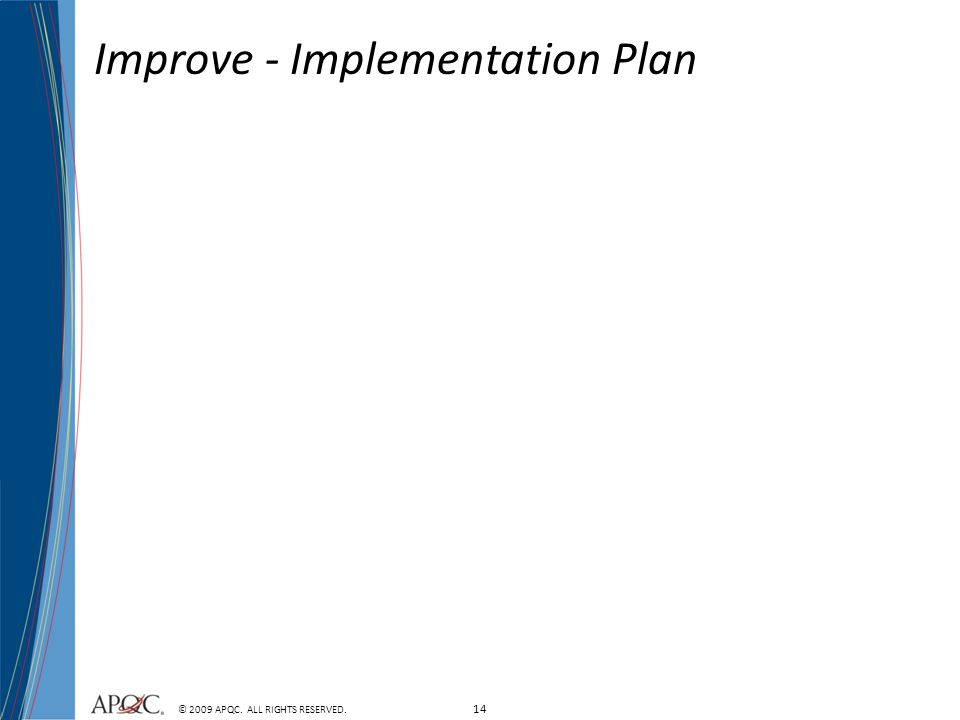 Improve - Implementation Plan