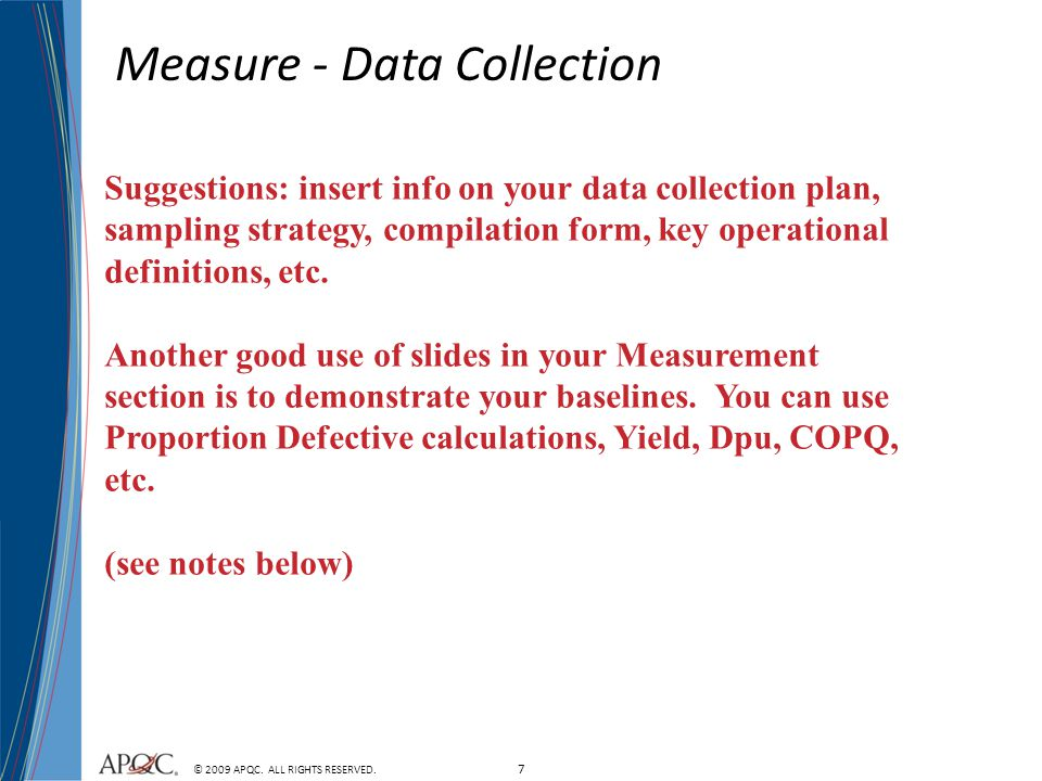 Measure - Data Collection