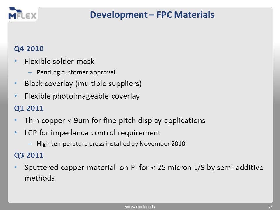 Development – FPC Materials