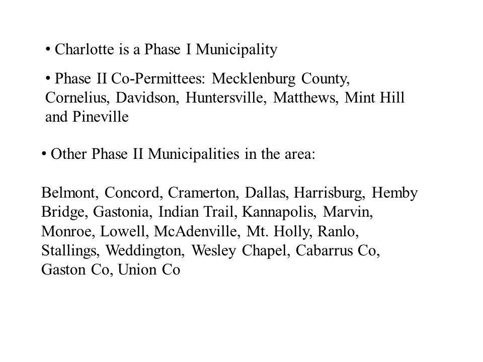 Charlotte is a Phase I Municipality