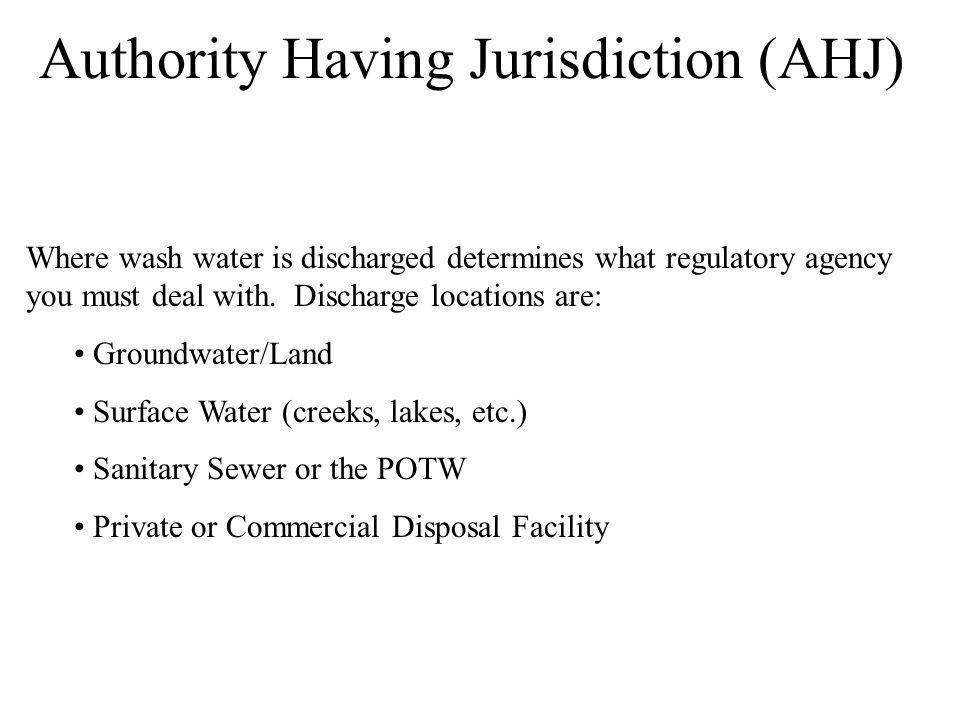 Authority Having Jurisdiction (AHJ)