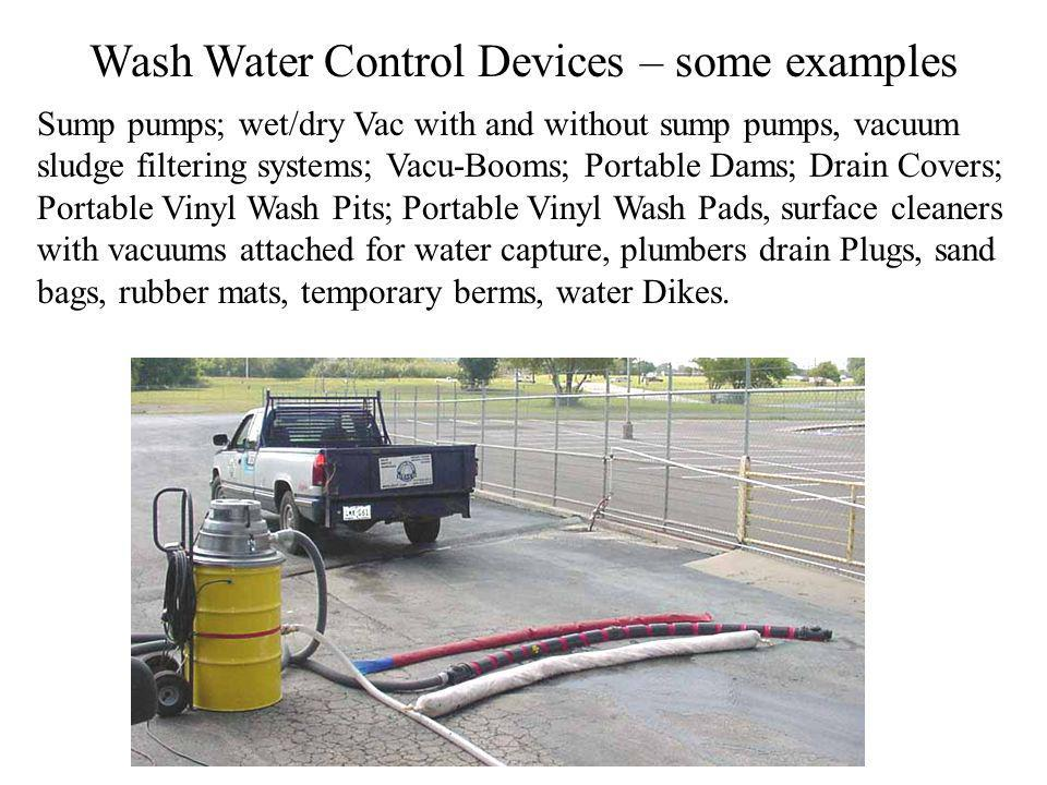 Wash Water Control Devices – some examples