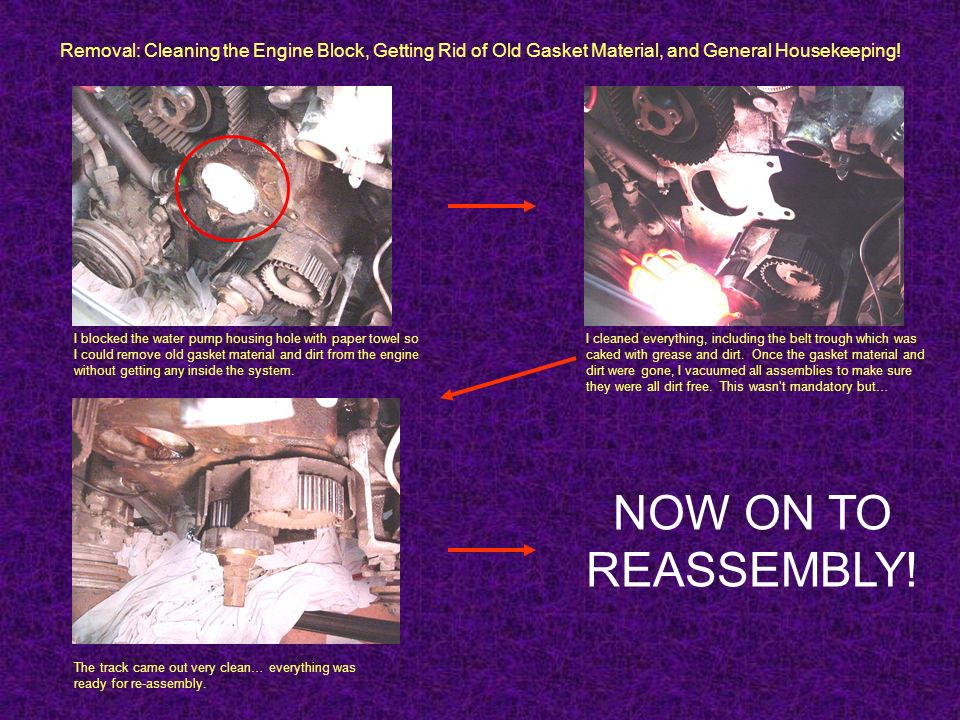 Removal: Cleaning the Engine Block, Getting Rid of Old Gasket Material, and General Housekeeping!