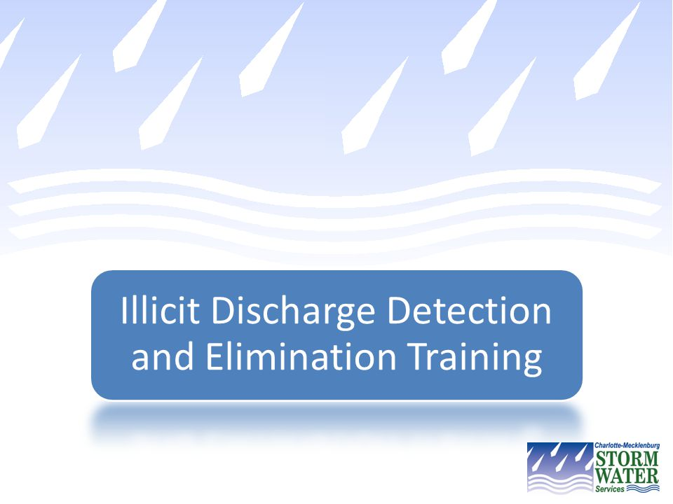 Illicit Discharge Detection and Elimination Training