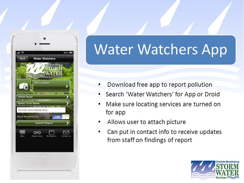 Download free app to report pollution
