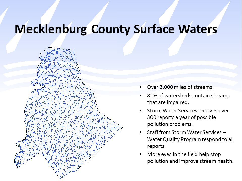 Mecklenburg County Surface Waters
