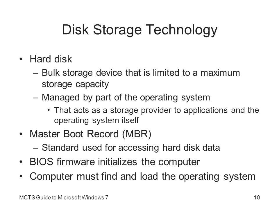 Disk Storage Technology