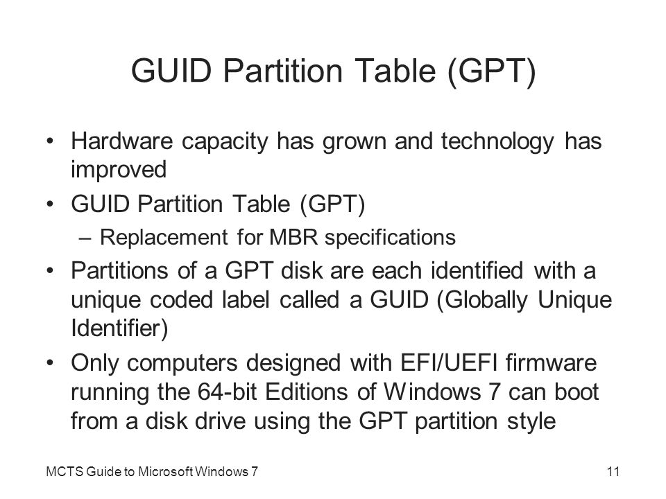 GUID Partition Table (GPT)