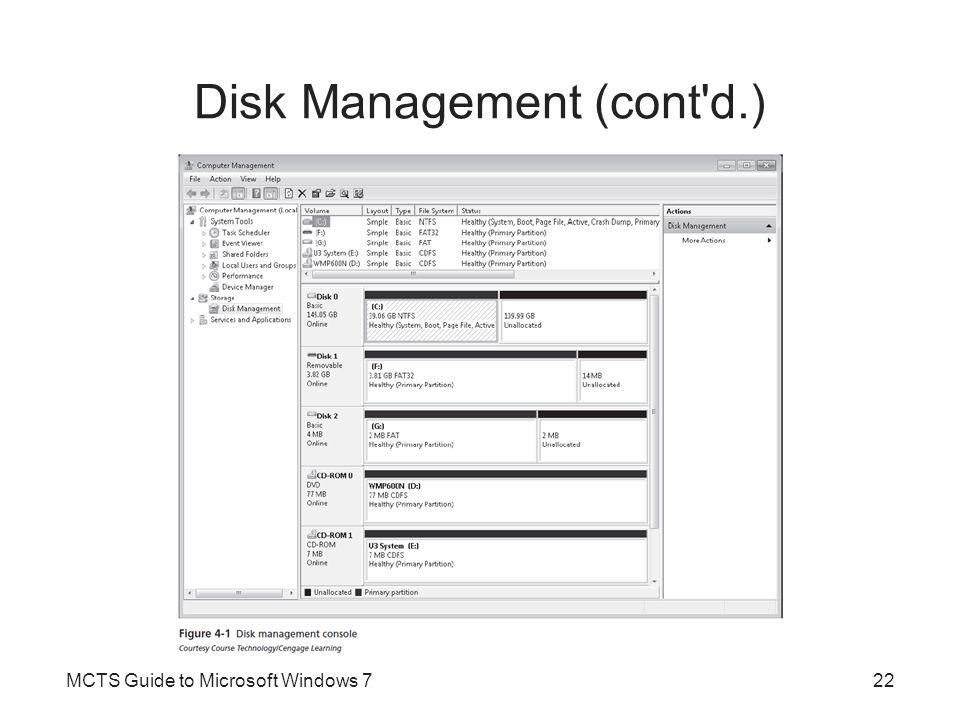 Disk Management (cont d.)