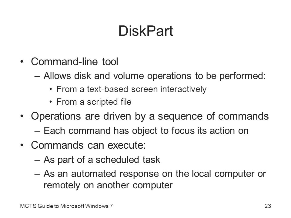 DiskPart Command-line tool