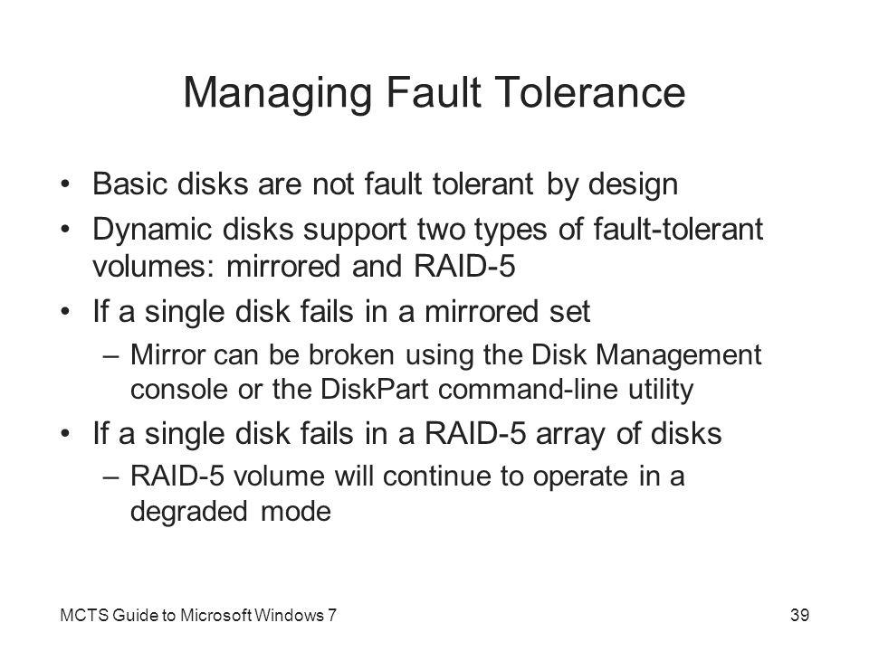 Managing Fault Tolerance