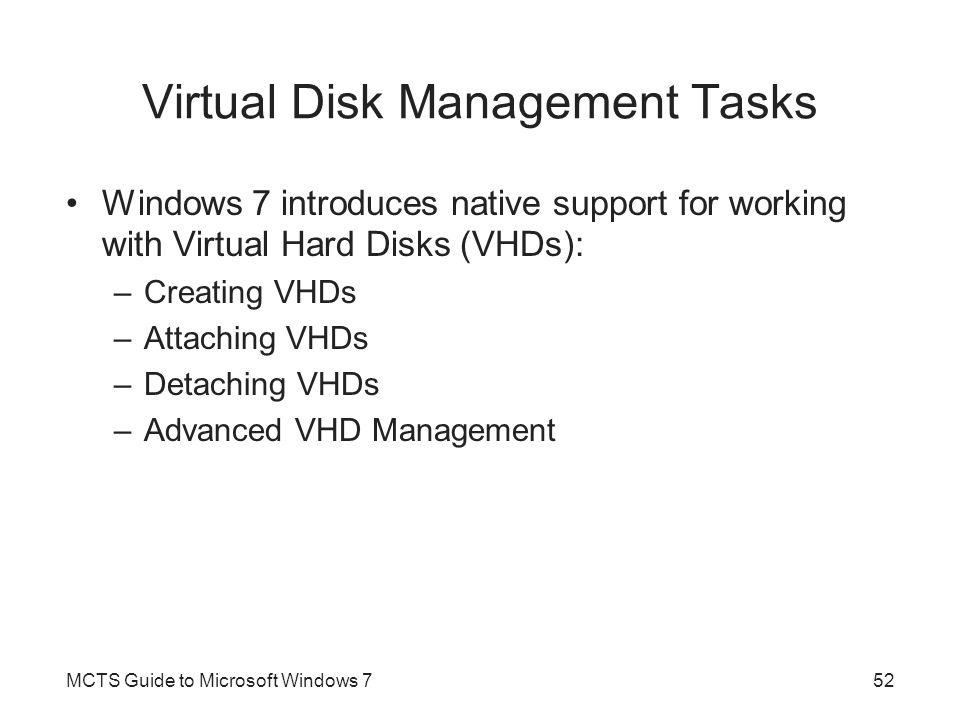 Virtual Disk Management Tasks
