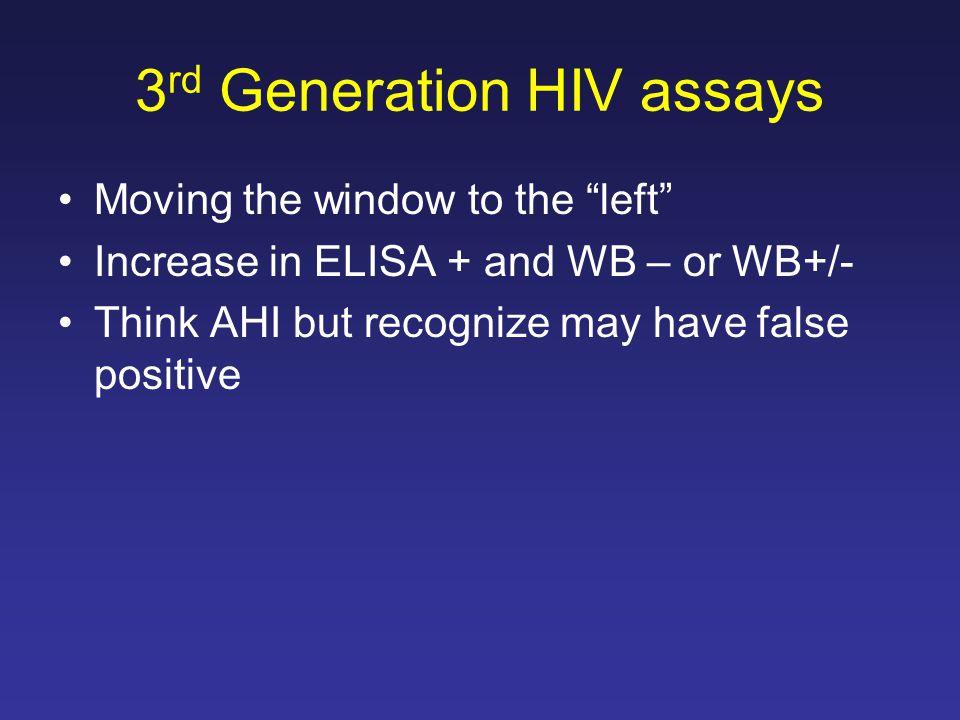 3rd Generation HIV assays