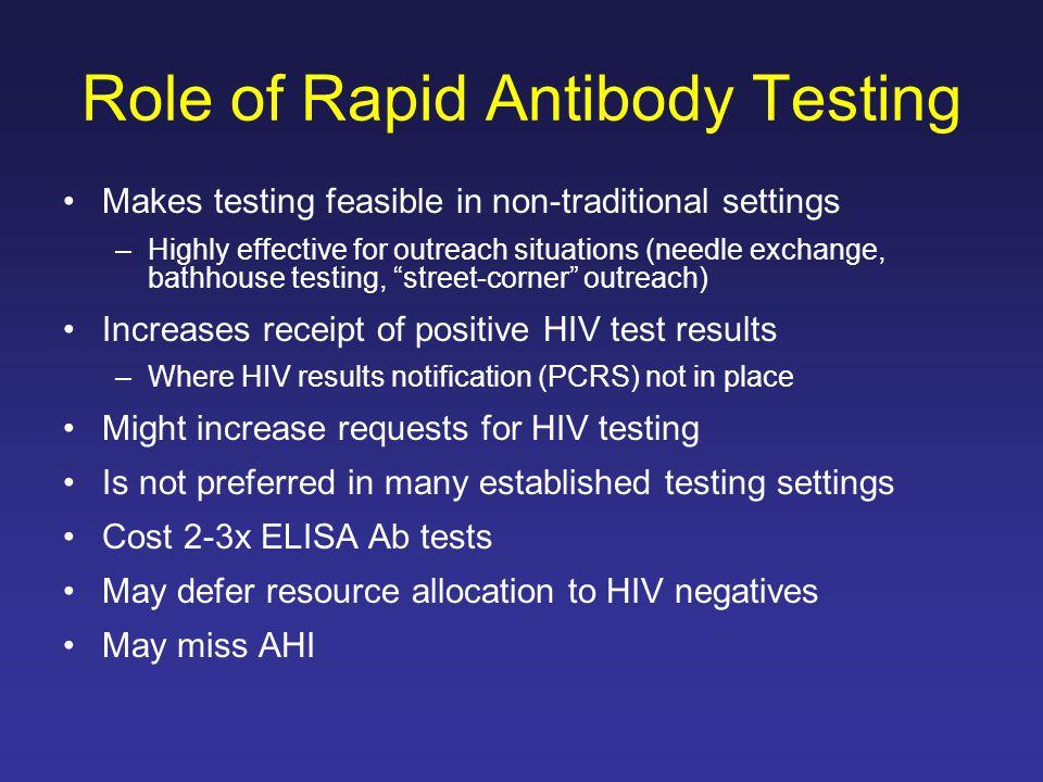 Role of Rapid Antibody Testing