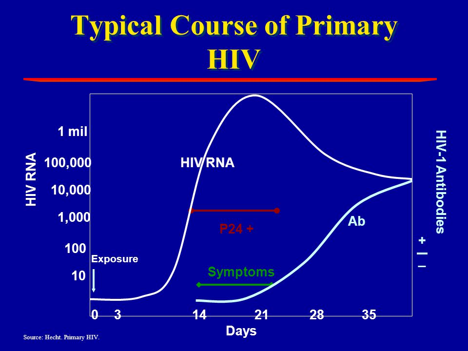 Typical Course of Primary HIV