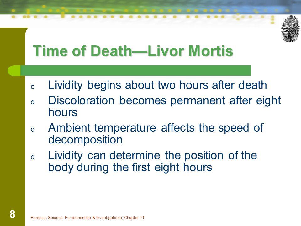 Time of Death—Livor Mortis
