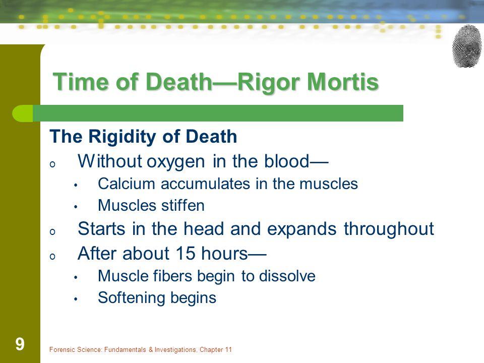 Time of Death—Rigor Mortis
